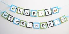 Owl Happy Birthday Banner Custom Made Party Decoration via adorebynat