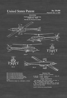 Seibel Military Helicopter Patent - Helicopter Blueprint Helicopter Poster Vintage Helicopter Aviation Art Pilot Gift Aircraft Decor by PatentsAsPrints