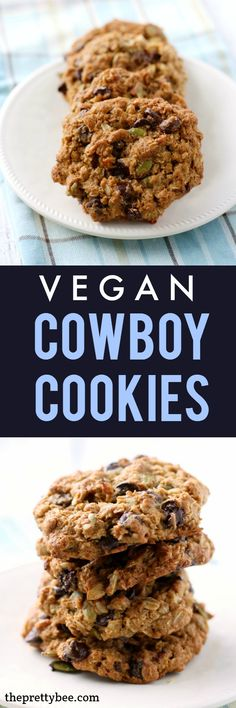 These vegan cowboy cookies are loaded with seeds, chocolate chips, coconut, and…