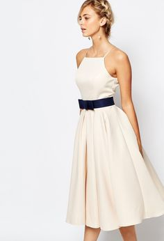 ASOS - Chi Chi London High Neck Midi Prom Dress with Full Skirt