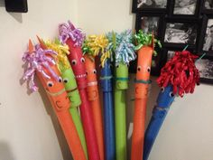 Pool noodle pony! A fun and affordable party game, toy and favor! Craft horse ribbon