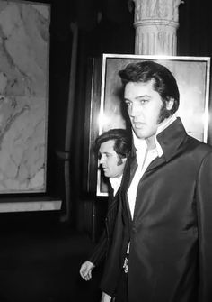 Elvis & Charlie Hodge Elvis attending a Tom Jones show at Caesar's Palace in mid-October 1970.
