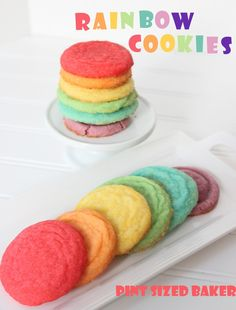 These Rainbow Cookies are sure to put a smile on every one's faces. The are fun, colorful and delicious!