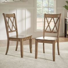Shop for Eleanor Double X Back Wood Dining Chair (Set of 2) by iNSPIRE Q Classic. Get free shipping at Overstock.com - Your Online Furniture Outlet Store! Get 5% in rewards with Club O! - 20156551