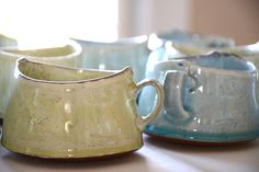 Handbuilt mugs from my beautiful friend and ceramic artist Birdie Boone