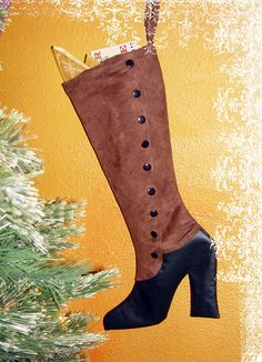 Steampunk Victorian Boot Christmas Stocking by ClockworkCouture