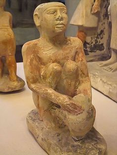 Limestone Servant Statue from Old Kingdom tomb of courtier Nykauinpu Dynasty 5 2477 BCE Giza Egypt (2) |