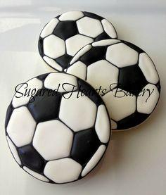 1 Dozen - Soccer Ball Cookies