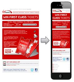 Virgin Trains responsive email designs