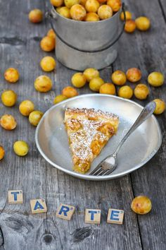 Herzstück - Mirabellentarte, yellow plum tarte