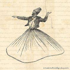 Whirling Dervish Digital by MadameBricolage, $1.00 -lineas hermosas-
