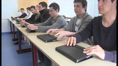 Rural high school Lycee Andre Theuriet is testing the use of tablets in its classrooms for collaborative work.