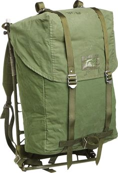 The legendary Swedish army 35 liter backpack with steel frame. A solid piece of kit which is still going strong, a fine example nordic quality.