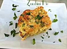 Zucchini Pie - A New York Foodie #zucchini #vegetables