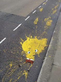 STREET ART  – LA TRISTE FIN DE BOB L'ÉPONGE