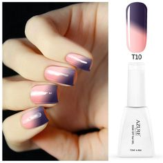 Azure chameleon nail gel polish warna perubahan suhu termal gel cat kuku rendam off uv gel nail polish tahan lama