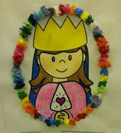 Faith Filled Freebies  - Free printable craft for the May Crowning of Mary. From Charlotte's Clips