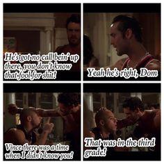 Dominic Toretto, Vince, & Leon (Vin Diesel, Matt Schulze, & Johnny Strong)