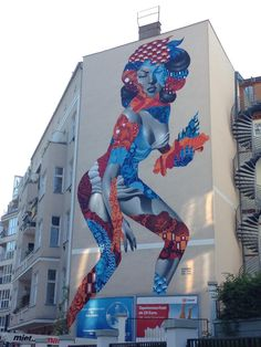 Street art by Tristan Eaton in Berlin.
