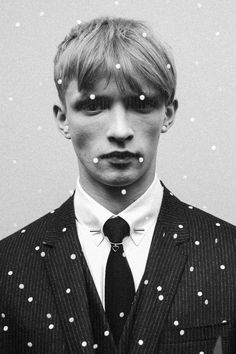 "barney-barrett: "" Christmas by Dior Homme. ""  collection inspiration menswear home black+and+white dior homme holiday+2014"