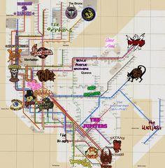 Warriors Subway Map.Love This Movie Blaq