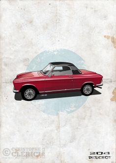 Les illustrations de christophe: Peugeot 204 Cabriolet