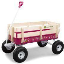 Tomy International 46449 John Deere Stake Wagon - Pink