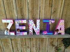 Disney Doc Mcstuffins Letter Art Hand Painted Wood Letters Kids