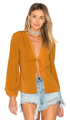 Shop for by the way. Meia Deep V Blouse in Mustard at REVOLVE. Free 2-3 day shipping and returns, 30 day price match guarantee.
