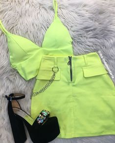 Best Teen Fashion Part 9 Neon Outfits, Teenage Outfits, Teen Fashion Outfits, Edgy Outfits, Mode Outfits, Retro Outfits, Look Fashion, Outfits For Teens, Dress Outfits