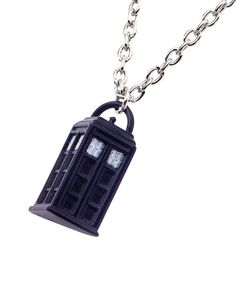 Doctor Who Blue Tardis Zinc Alloy Enamel Finish Licensed Pendant Chain Necklace #BBC #Necklace