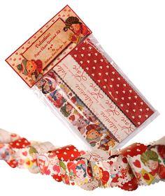 Retro Valentine Paper Chain Garland Kit