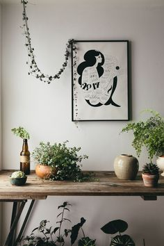 Living with plants and beautiful illustrations.