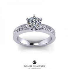 Leaf & Vine inspired Diamond Ring RL0352