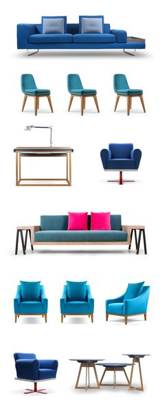 MOYA :: blue Sofas, Lounge, Couch, Living Room, Interior, Blue, Furniture, Design, Home Decor