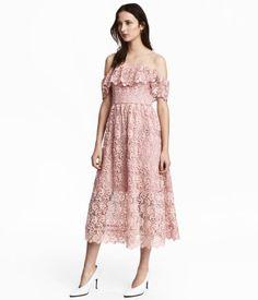 Vestido hombro descubierto | Rosa claro | Mujer | H&M MX