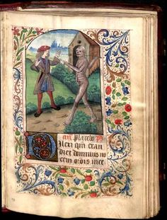 """Dance of Death"" from our 15th century Book of Hours of the Blessed Virgin Mary."