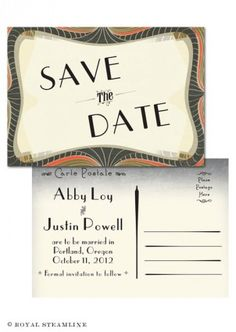 lovely Save-The-Date card