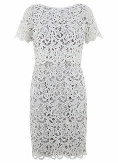 Ivory Lace Cape Dress by Mint Velvet
