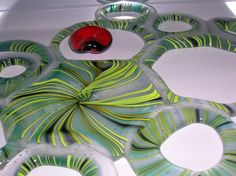 Glas geschmolzen geblasen gesägt verschmolzen Abstract, Tableware, Artwork, Lampworking, Bubbles, Dinnerware, Work Of Art, Summary, Dishes