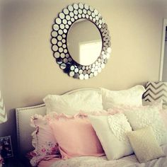 Our country modern chic bed room. .i am in love with this. So romantic