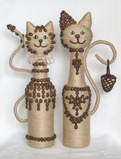 DIY GLASS BOTTLE HOME DECOR Long winter nights have ended. The best way to spend the long winter nights is to sip a nice red wine with classical music. Wine Bottle Art, Plastic Bottle Crafts, Diy Bottle, Wine Bottle Crafts, Wine Craft, Plastic Bottles, Glass Bottles, Jute Crafts, Diy And Crafts