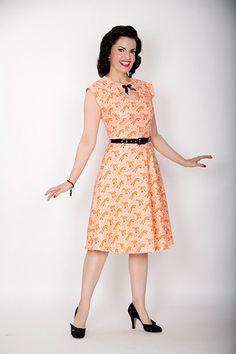 Foxy print Pin Up Dress