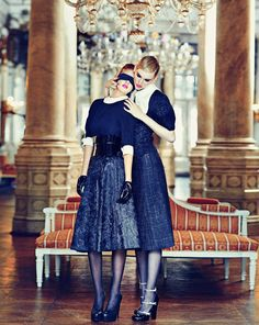 Nina Reijnders & Victoria Lipatova by Koray Parlak for Marie Claire Turkey December 2011