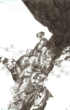 Witchfinder4 cover by Mike Mignola Comic Art