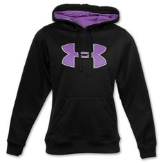 under armour hoodies for men | Under Armour Big Logo Women's Hoodie | FinishLine.com | Black/Purple