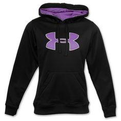 under armour hoodies for men | Under Armour Big Logo Women's Hoodie | FinishLine.com | Black/Purple