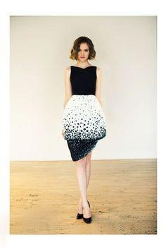 two-layered skirt
