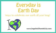 Let's celebrate Earth Day with young children!