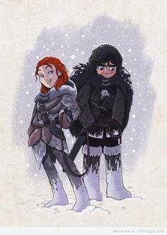 Jon Nieve y Ygritte